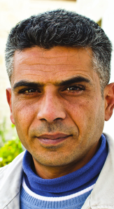 Iyad Burnat, Palestinian grassroots activist, Bil'in Popular Committee. He has led weekly demonstrations since 2005.
