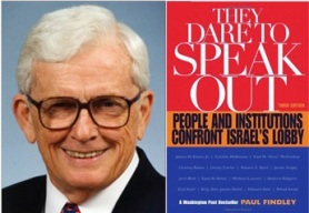 "Paul Findley, former US Congressman, Illinois, author of ""They Dare to Speak Out,"" the first book on the Israel lobby"